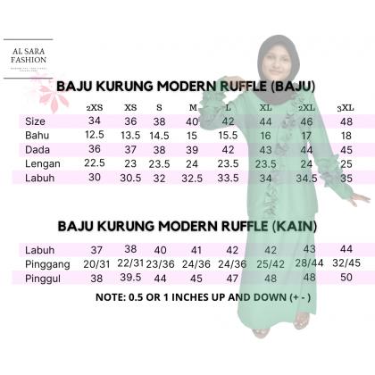 BAJU KURUNG MODERN RUFFLE